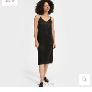 NWT Everlane The Party Slip Dress black size 0